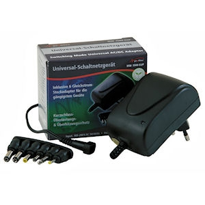 Universele voedingsadapter 3-12 volt/1500 mA max