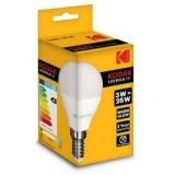 Kodak LED Kogel 3W, 3000K, E14, 200lm