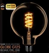 Led Spiraal Globe 125mm Goud E27 8W 360LM