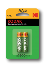 Kodak Rechargeable Ni-Mh AA 2600 mAh