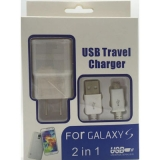 USB lader met micro USB kabel wit