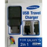 USB lader met micro USB kabel zwart
