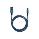 USB micro kabel 1m blauw/zwart