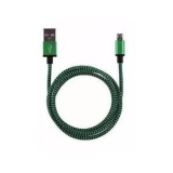 USB micro kabel 1m groen/zwart