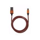 USB micro kabel 1m oranje/zwart