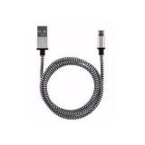 USB micro kabel 1m wit/zwart